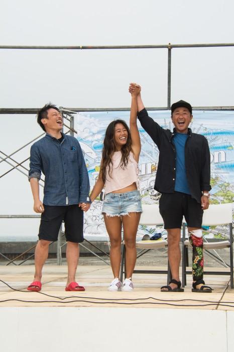 山本さんは今大会のチャンピオンにもなった (写真・大石智久)