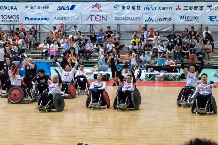 日本ーイギリスでの決勝戦、試合終了。ウィニング・カルチャーを積み重ねた、とケビン・オア日本代表ヘッドコーチは語る。 (写真・秋冨哲生)