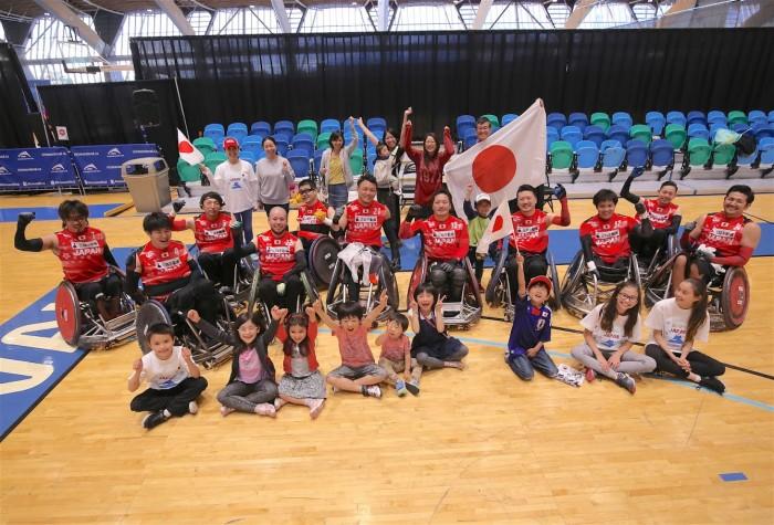 カナダカップ初日(6月14日)、日本VSオーストラリア戦を66 - 67で承知した日本チーム