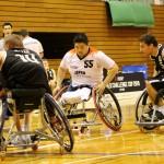 対戦国ドイツのプロチームでも活躍するエース香西宏昭。この日も多くのシュートで会場を沸かせた。