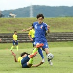 1本目と違い攻撃に参加するSB木村選手