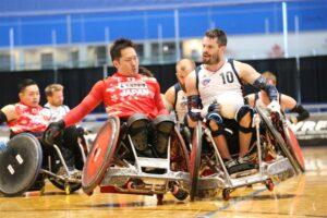 カナダカップ2日目・アメリカと日本の対戦。島川慎一(3.0点)とアメリカのJosh Wheeler(2.5点)