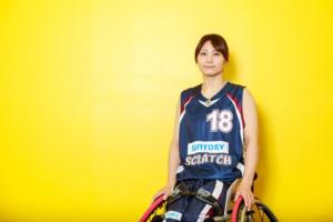 車いすバスケットボールの土田真由美(写真・内田和稔)