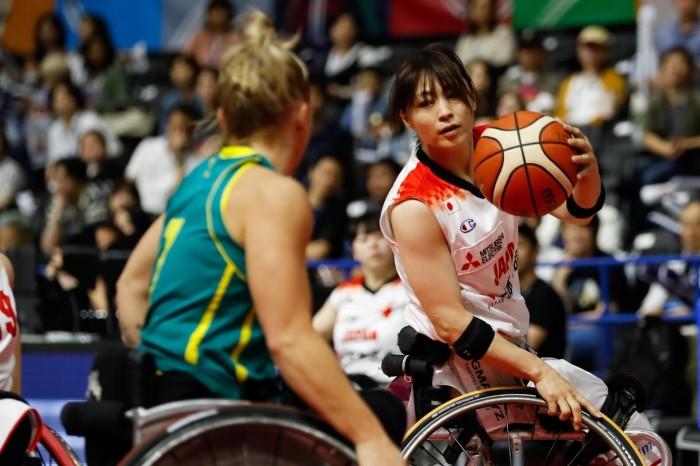 「日本生命 WOMEN'S CHALLENGE MATCH」オーストラリア戦での土田真由美