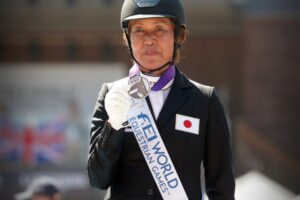 Tomoko Nakamura/Bronze: WEG 2018 Freestyle (horse: D Jazz F) (Photo: Meghan Benge)