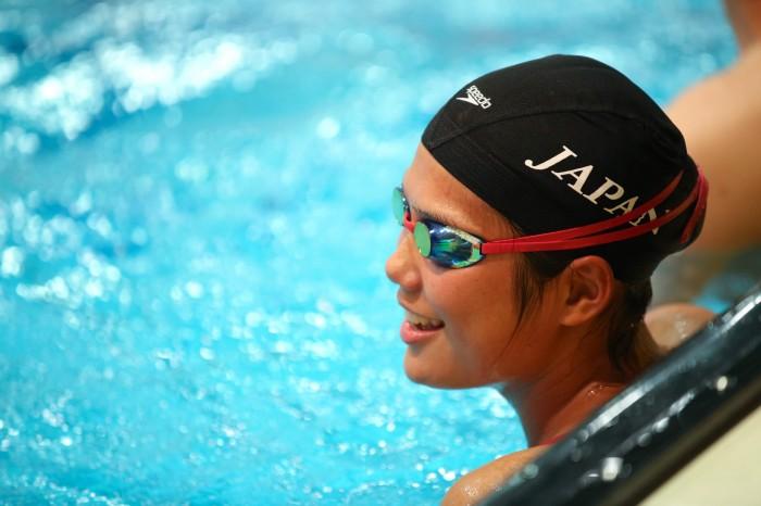 JISSで練習する池愛里(左足機能障害/日体大) (写真・内田和稔)
