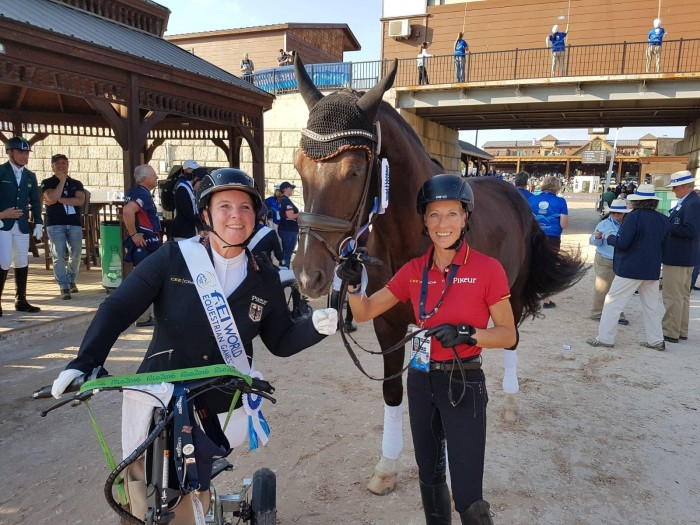 Dr.Angelika Trabert/GER (Bronze) with  Ina Oliver Franken and Diamond's Shine (Photo credit: Angelika Trabert)