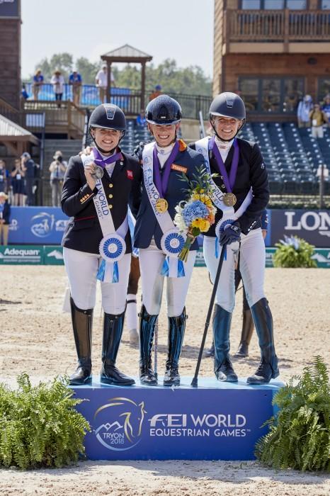 Grade 3 Natasha Baker(Silver), Rixt van der Horst(Gold), Rebecca Hart (Bronze) (Photo:FEI)
