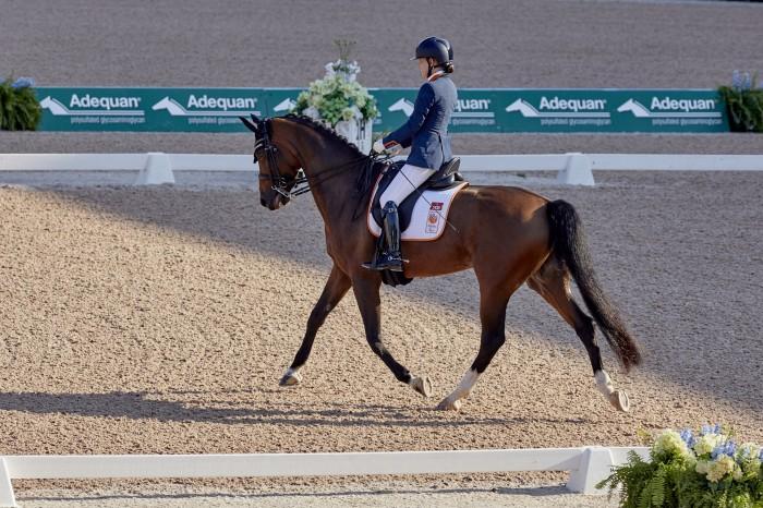 FEI World Equestrian Games™ Tryon USA Rixt van der Horst on Findsley NED (Photo FEI/Liz Gregg)