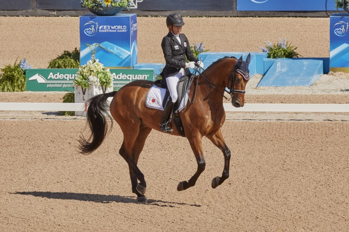 FEI World Equestrian Games™ Tryon USA  Bronze medalist Tomoko Nakamura on Djazz F (Photo FEI/Liz Gregg)