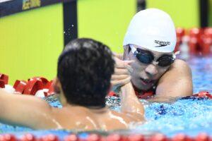 アジアパラで、200m個人メドレーを泳いだ東海林大(手前)と中島啓智 写真・山下元気