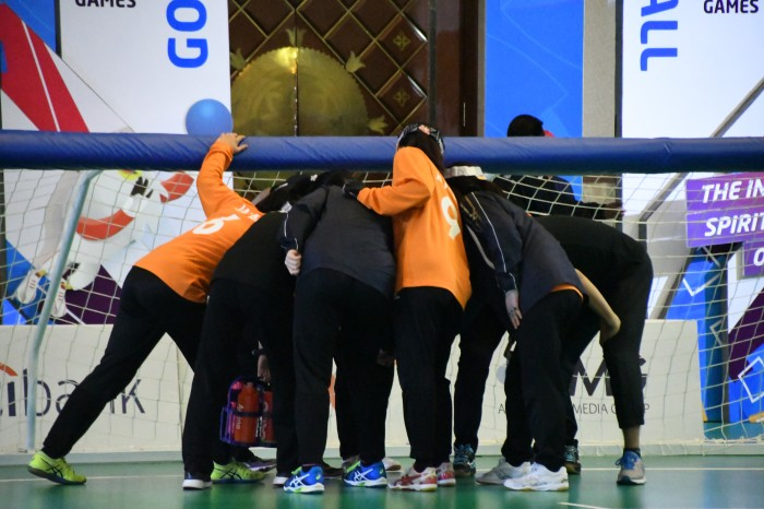日本女子ゴールボール円陣