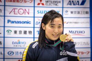 辻内。8月のパンパシフィックパラ水泳では100m背泳ぎと50m自由形でも日本新記録を出している