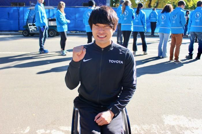 今シーズン多くのレースに出場している鈴木。海外レースは「勉強になる。貴重な機会」と話す。(筆者撮影)
