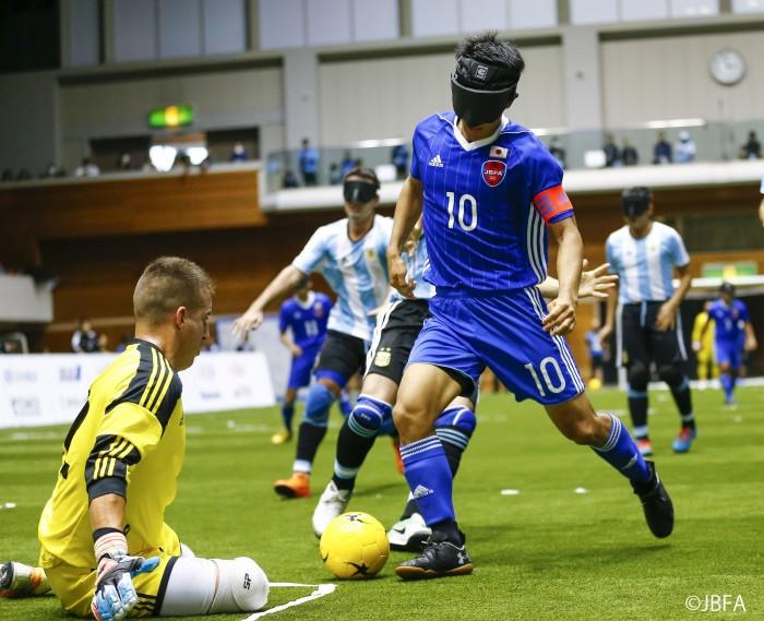 世界2位のアルゼンチン戦で川村怜が初得点。ブラインドサッカー・チャレンジカップ2018町田市で開催!