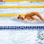 小山恭輔の100メートル自由形 写真提供:日本身体障がい者水泳連盟