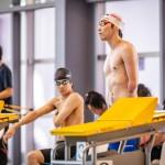 50メートルバタフライS9のスタート前の山田拓朗(NTTドコモ) 写真提供:日本身体障がい者水泳連盟