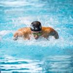 50メートル・バタフライを泳ぐ、富田宇宙。大会新記録 写真提供:日本身体障がい者水泳連盟