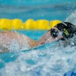 200メートル自由形S14を泳ぐ、中島啓智(知的障害/あいおいニッセイ) 写真・秋冨哲生