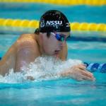 200メートル個人メドレーS11を泳ぐ 富田宇宙(全盲/日体大大学院) 写真・秋冨哲生