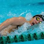 400メートル自由形S11を泳ぐ富田宇宙 写真・秋冨哲生
