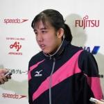 100メートル平泳ぎS14、日本記録1:21.82で派遣標準記録を突破した芹沢美希香 写真・望月芳子