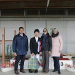 インディビジュアルテスト表彰式:グレードⅢ稲葉 将(静岡乗馬クラブ/シンプレックス)と3人の審判