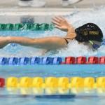 100メートルバタフライS10を泳ぐ池あいり(日体大)1:10.62 写真・吉村もと