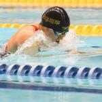 100メートル平泳ぎS6を泳ぐ小池さくら(両下肢機能全廃/日体大桜華高校)  1:48.29 写真・吉村もと