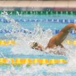 100メートル自由形S9を泳ぐ久保大樹(KBSクボタ)1: 写真・吉村もと