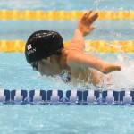 50メートルバタフライS7を泳ぎ日本記録(39.59)をマークした西田杏 撮影・吉村もと