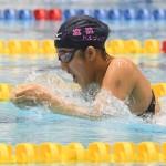 100メートル平泳ぎSB14を泳ぐ芹沢美希香 写真・吉村もと