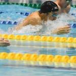 100メートル平泳ぎSB14を泳ぐロンドンパラリンピック(2012年)金メダリスト・田中康大 写真・吉村もと