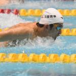 世界記録をもつ100メートルバタフライS11を泳ぐ東海林大(三菱商事) 写真・吉村もと