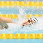 100メートル自由形S9を泳ぐ山田拓朗(NTTドコモ) 写真・吉村もと