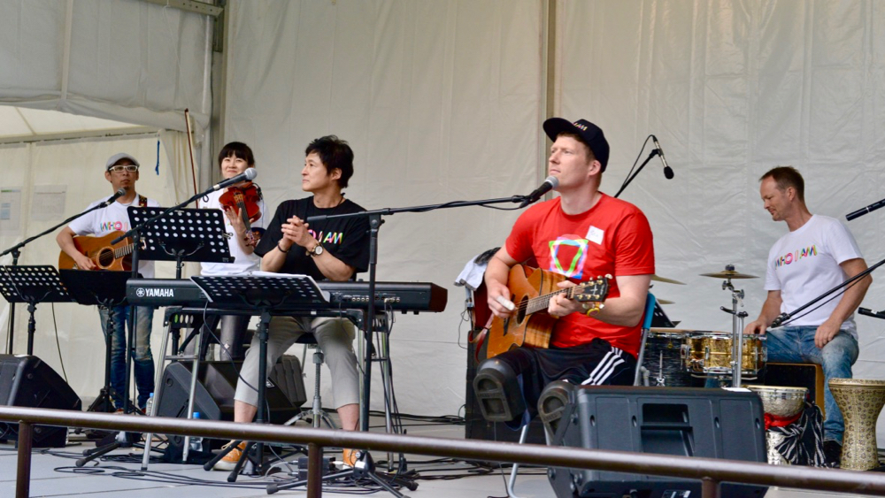 レッドチームを率いた、ゲスト・パラリンピアン、パトリック・アンダーソン(カナダ)の演奏。