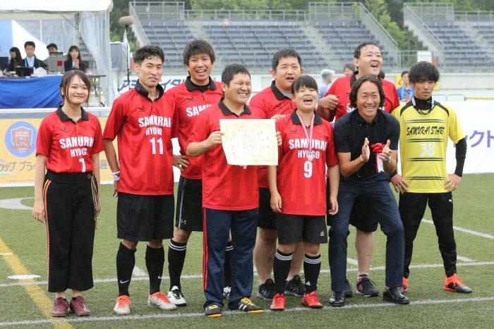 ブラインドサッカー日本選手権3位決定戦 行廣雄太のハットトリックで兵庫サムライスターズが初の3位に