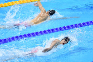 NAKAJIMA Keiichi (手前) & TOKAIRIN Dai (奥) Men's 200m Freestyle S14 Heat 2 London 2019 World Para Swimming