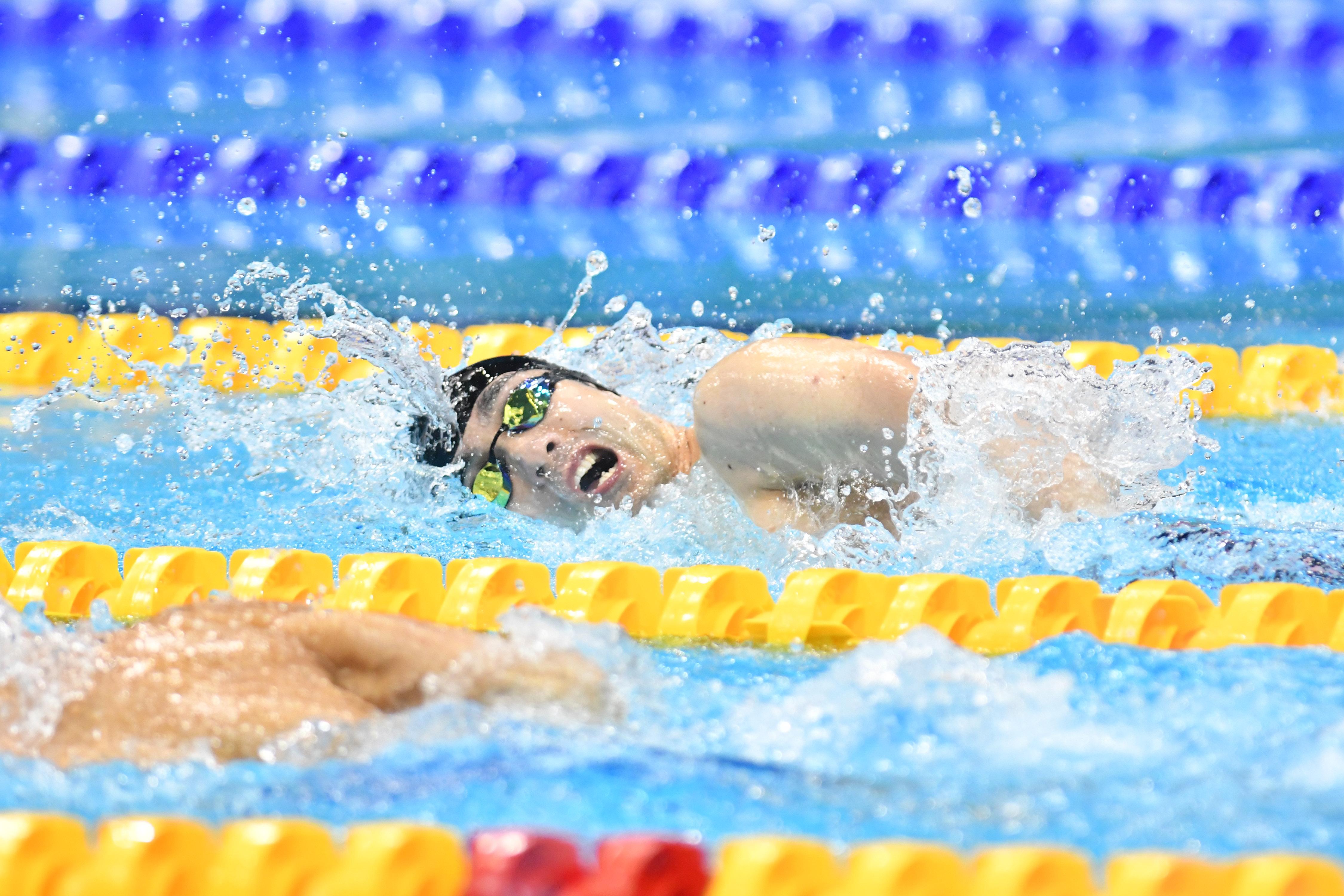 SUZUKI Takayuki (JPN) Men's 100m Freestyle S4 Final / Silver Medal London 2019 World Para Swimming