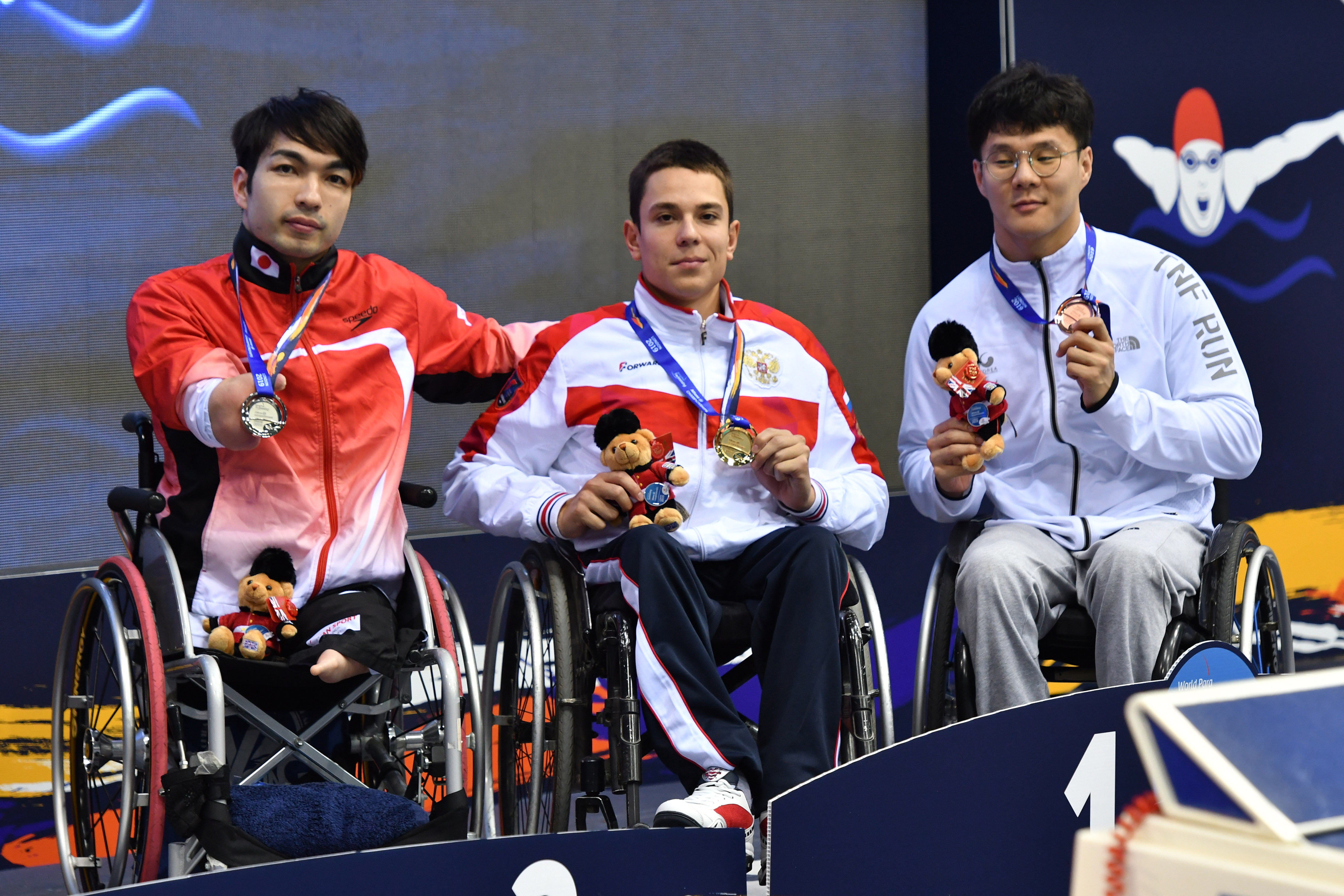SUZUKI Takayuki (JPN) Men's 100m Freestyle S4 Silver Medal London 2019 World Para Swimming