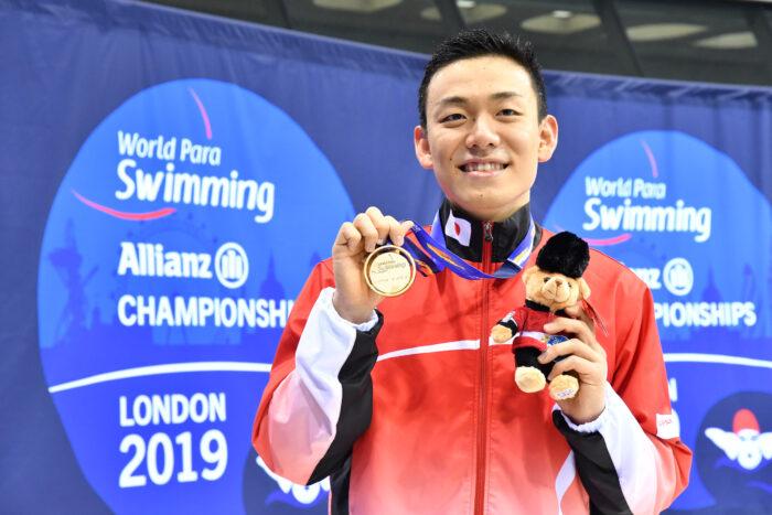 YAMAGUCHI Naohide (JPN) Men's 100m Breaststroke SB14 / Gold Medal / London 2019 World Para Swimming