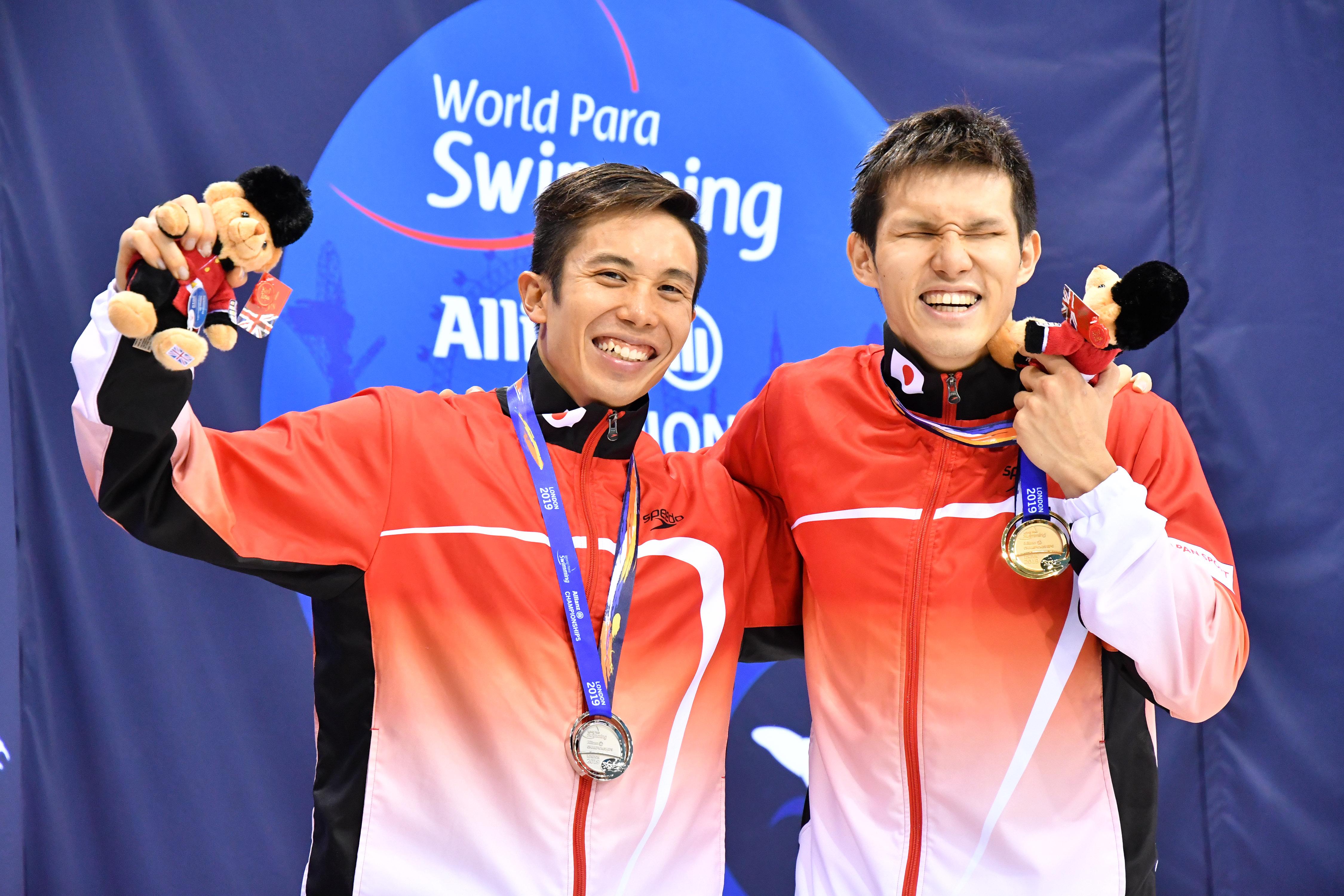 KIMURA Keiichi & TOMITA Uchu (JPN) Men's 100m Butterfly S11 / Final Gold Medal & Silver Medal