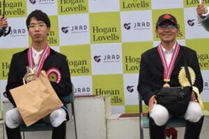 グレードⅢ、インディビジュアルテスト表彰式 左は1位の稲葉将、右は2位の常石勝義