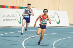 女子400mT13で決勝進出した佐々木真菜(東邦銀行)は58秒38で4位、東京パラリンピック出場枠を得た 写真・吉田直人
