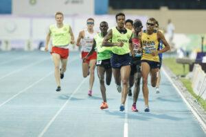 男子1500m T11決勝。4:07.02で優勝したブラジルのジュリオ・セザール・アグリピーノ(AGRIPINO dos SANTOS Julio Cesar) 写真・小川和行