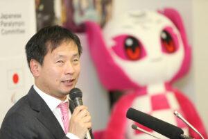 東京2020パラリンピック日本選手団団長に就任した河合純一(JPC委員長) 写真・内田和稔