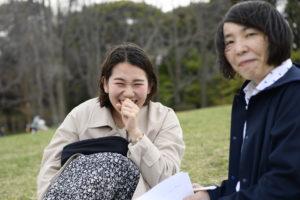 4月4日、根岸森林公園にて行われたインタビュー 写真・山下元気