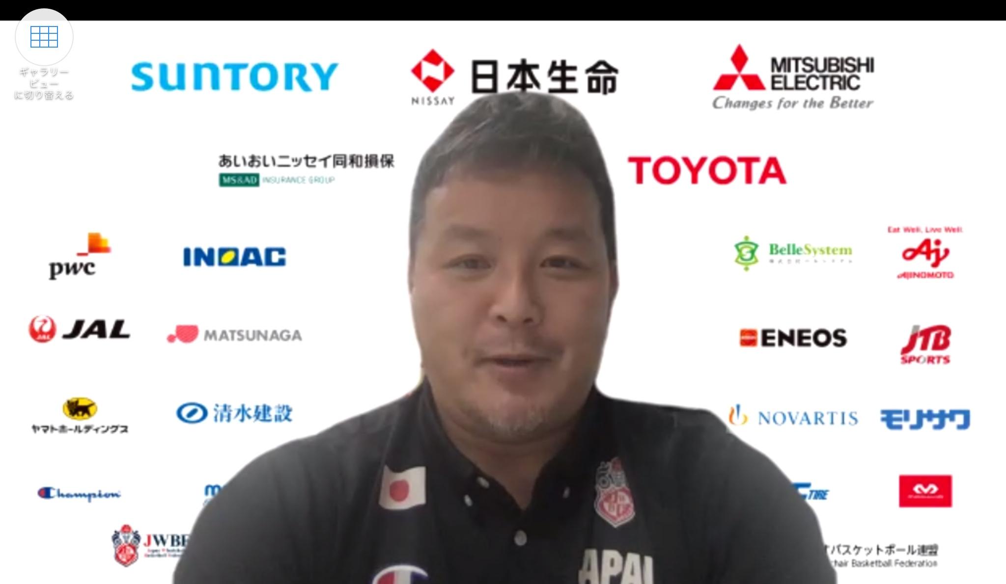 インタビューに応じる京谷和幸