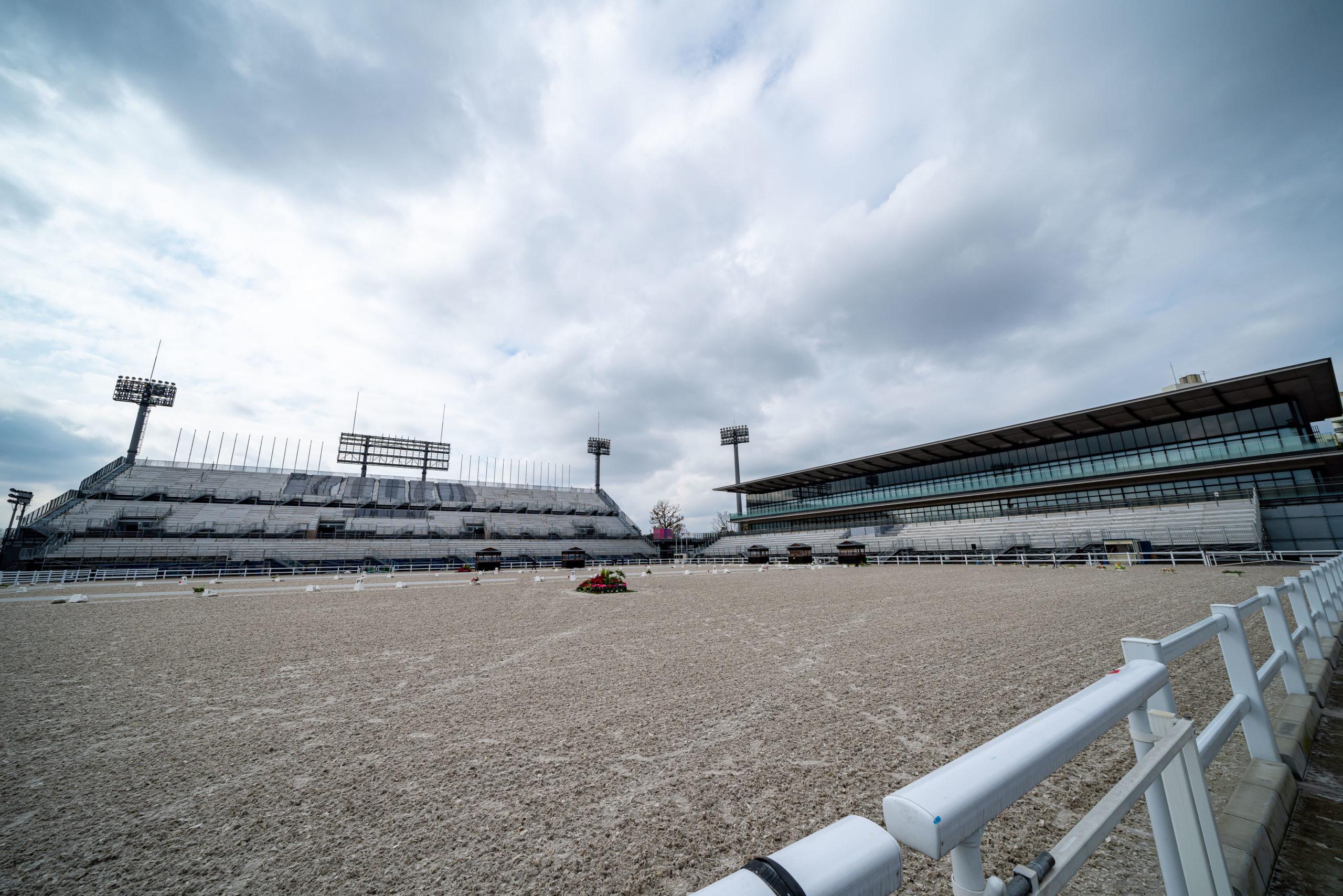 改修工事がほぼ終わり、パラ馬術大会が開幕した馬事公苑