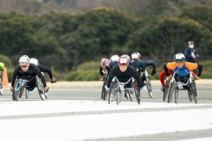 車いすマラソン「Challenge Tokyo Para 42.195km in 立川」が開催された(写真:内田和稔)
